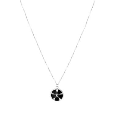 Dirty Ruby Black+ Silver Star Necklace  - Click to view larger image