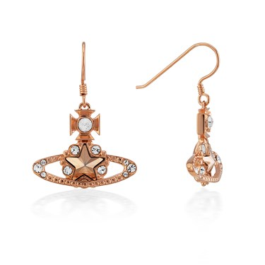 Vivienne Westwood Rose Gold Astrid Drop Earrings  - Click to view larger image