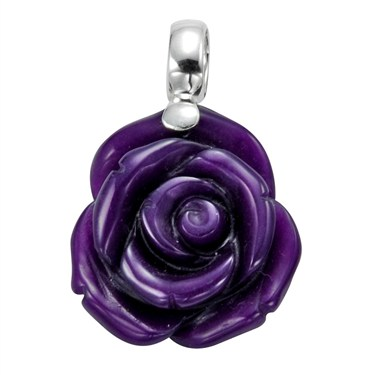 Argento Rose Pendant Necklace