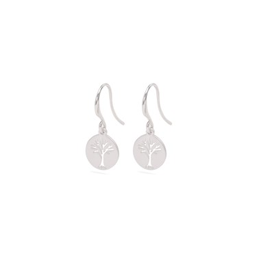 Pilgrim Silver Tree Of Life Earrings   - Click to view larger image