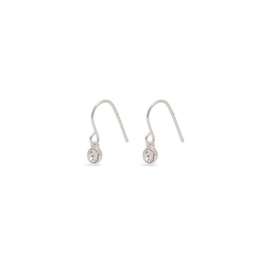 Pilgrim Silver Drop Crystal Earrings   - Click to view larger image