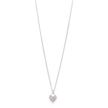 Pilgrim Silver Crystal Heart Necklace   - Click to view larger image