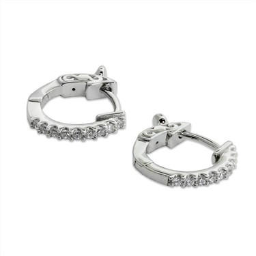 Carat* London Silver Hoop Earrings  - Click to view larger image