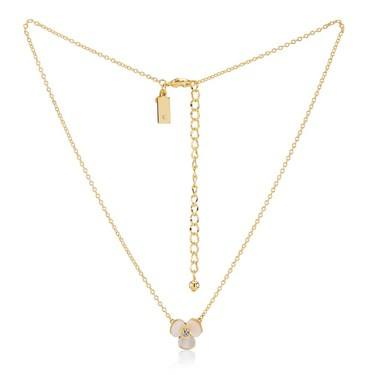 Kate Spade New York Gold Disco Pansy Necklace  - Click to view larger image