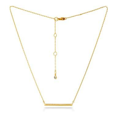 Kate Spade New York Gold Crystal Bar Necklace  - Click to view larger image