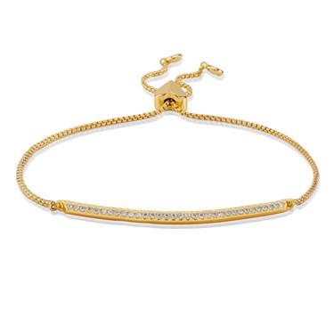 Kate Spade New York Gold Crystal Slider Bracelet  - Click to view larger image