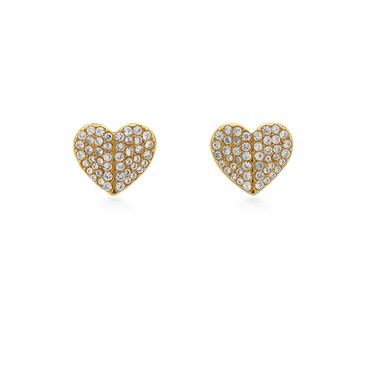 Kate Spade New York Gold Crystal Heart Earrings  - Click to view larger image