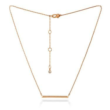Kate Spade New York Rose Gold Crystal Bar Necklace  - Click to view larger image