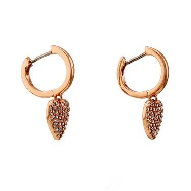 Kate Spade New York Rose Gold Crystal Heart Huggie Earring  - Click to view larger image