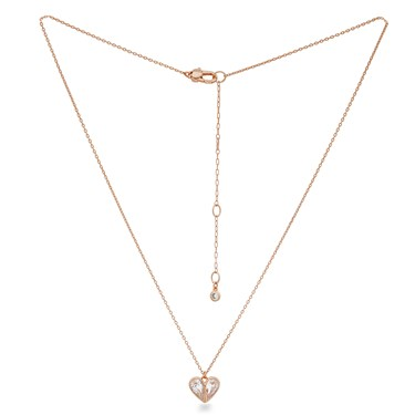 Kate Spade New York Rose Gold Crystal Heart Necklace  - Click to view larger image