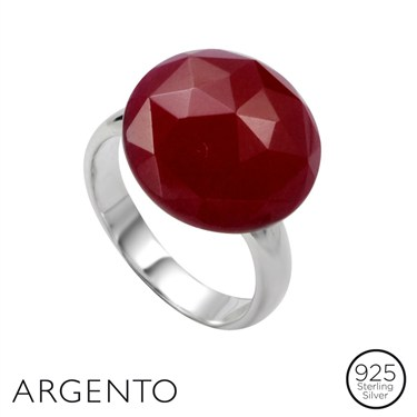 Argento Ruby Quartz Ring