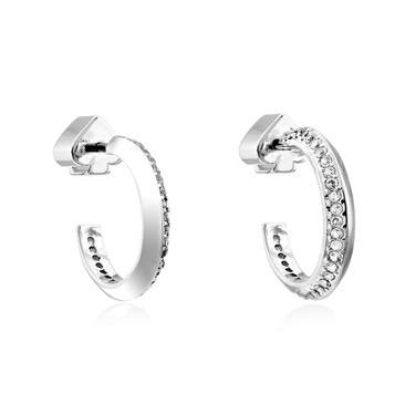 Kate Spade New York Silver Crystal Huggie Earrings  - Click to view larger image