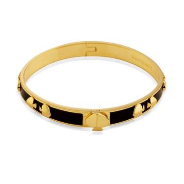 Kate Spade New York Gold + Black Multi Spade Bangle   - Click to view larger image