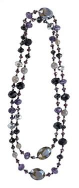 Karma Black Purple Crystal Necklace