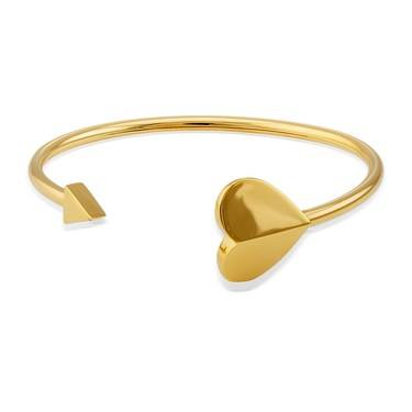 Kate Spade New York Gold Heart Cuff Bangle   - Click to view larger image