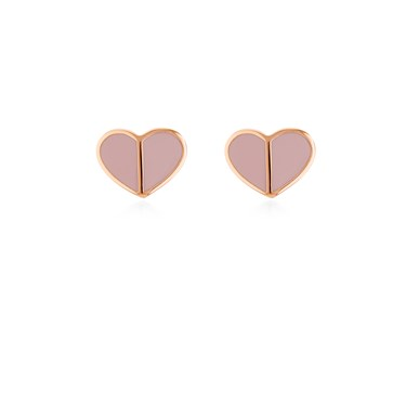 Kate Spade New York Rose Gold Pale Pink Heart Earrings  - Click to view larger image
