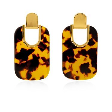 Kate Spade New York Gold Tortoiseshell Statement Earrings   - Click to view larger image