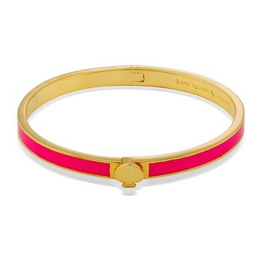 Kate Spade New York Pink & Gold Spade Bangle  - Click to view larger image