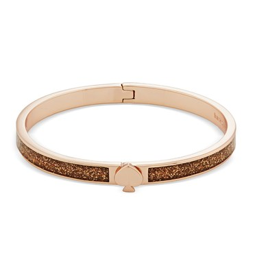 Kate Spade New York Rose Gold Glitter Spade Bangle  - Click to view larger image