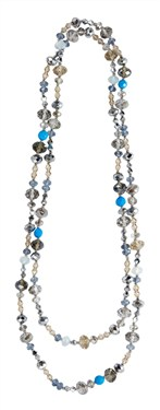 Karma Blue White Crystal Necklace