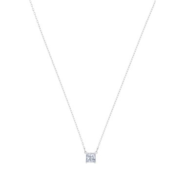 Swarovski Attract Silver Square Necklace  - Click to view larger image