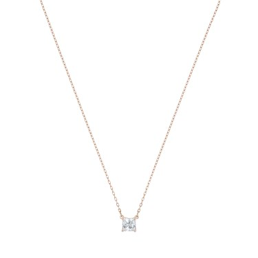 Swarovski Attract Rose Gold Square Necklace  - Click to view larger image