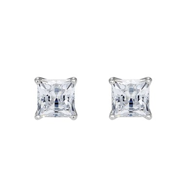 Swarovski Attract Silver Square Earrings  - Click to view larger image
