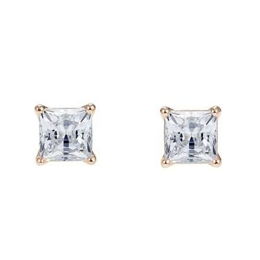 Swarovski Attract Rose Gold Square Earrings  - Click to view larger image