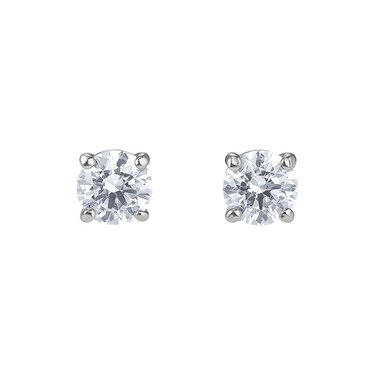 Swarovski Attract Silver Earrings  - Click to view larger image