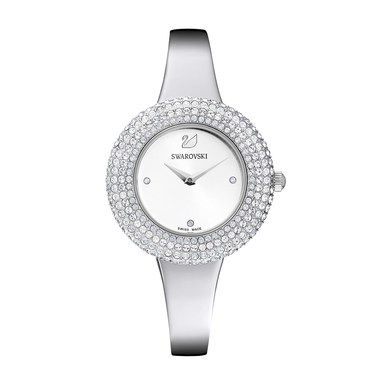 Swarovski Crystal Rose Silver Watch   - Click to view larger image