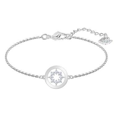 Swarovski Further Silver Circle Bracelet   - Click to view larger image