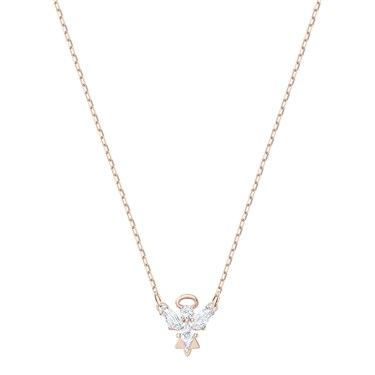 Swarovski Magic Rose Gold Angel Necklace   - Click to view larger image