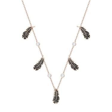 Swarovski Naughty Black + Rose Gold Choker Necklace  - Click to view larger image