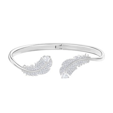 Swarovski Nice Feather Hinged Bangle  - Click to view larger image