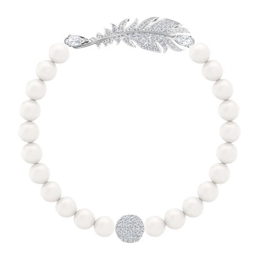 Swarovski Nice Feather Pearl Bracelet   - Click to view larger image