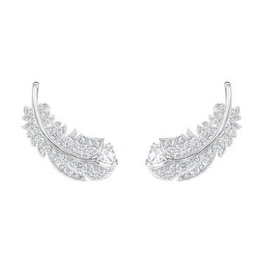 Swarovski Nice Feather Earrings   - Click to view larger image