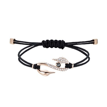 Swarovski Power Black + Rose Gold Pull Bracelet   - Click to view larger image