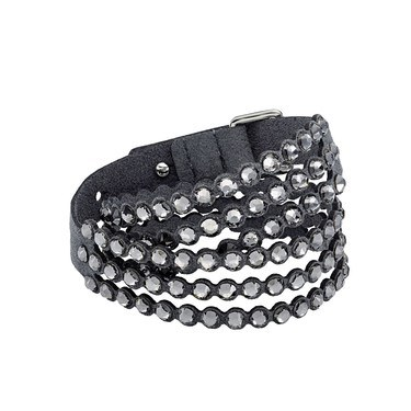 Swarovski Power Slake Dark Grey Bracelet  - Click to view larger image