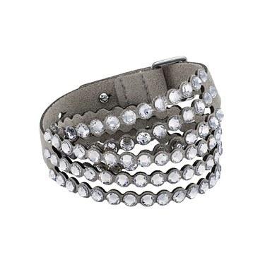 Swarovski Power Slake Grey Bracelet  - Click to view larger image