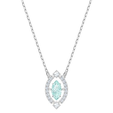 Swarovski Sparkling Dance Aqua Marquise Necklace  - Click to view larger image