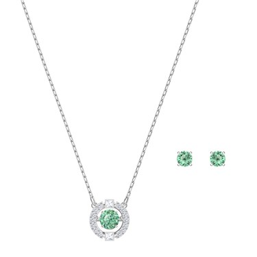 Swarovski Sparkling Dance Green Set   - Click to view larger image
