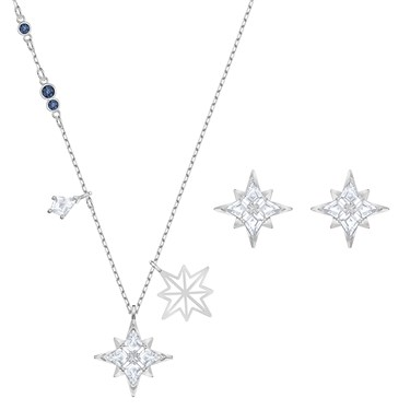 Swarovski Star Shine Silver Set   - Click to view larger image