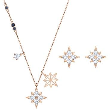Swarovski Star Shine Rose Gold Set   - Click to view larger image