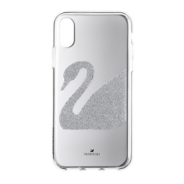 Swarovski Silver Swan iPhone X/XS Case   - Click to view larger image