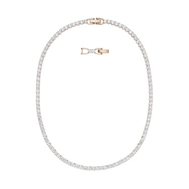 Swarovski Tennis Deluxe Rose Gold  All Around Necklace  - Click to view larger image