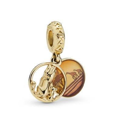 Pandora Disney Lion King Simba and Mufasa Charm  - Click to view larger image
