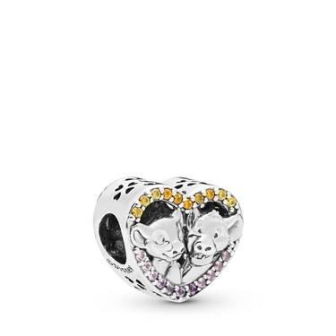 Pandora Disney Lion King Simba and Nala Heart Charm  - Click to view larger image