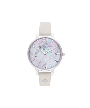 Olivia Burton Celestial Silver Star Mother Of Pearl Watch  - Click to view larger image