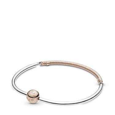 Pandora Rose Moments Three-Link Bangle  - Click to view larger image