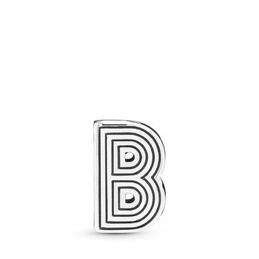 Pandora  Reflexions Letter B Clip Charm  - Click to view larger image